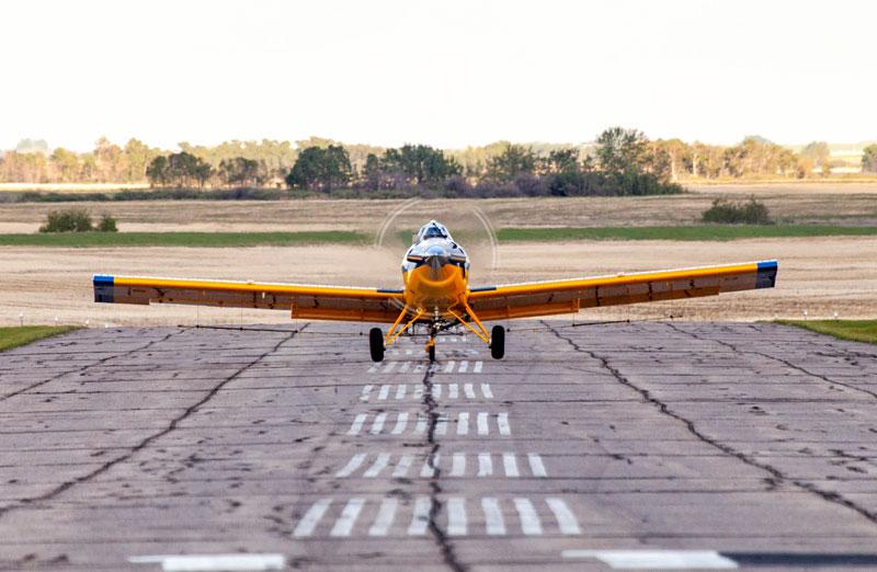 spray plane rosetown